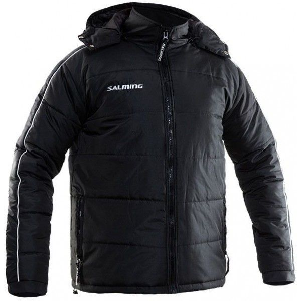 Salming Thermo Flow Jacket Black sporta vējjaka ar kapuci