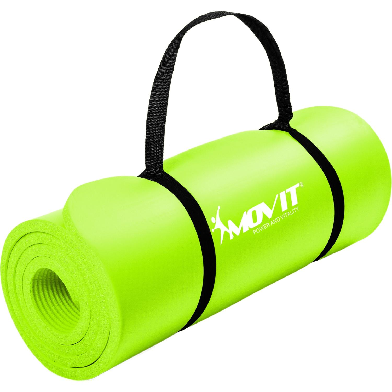 Movit Yoga Mat 183x60x1.0cm Lime jogas