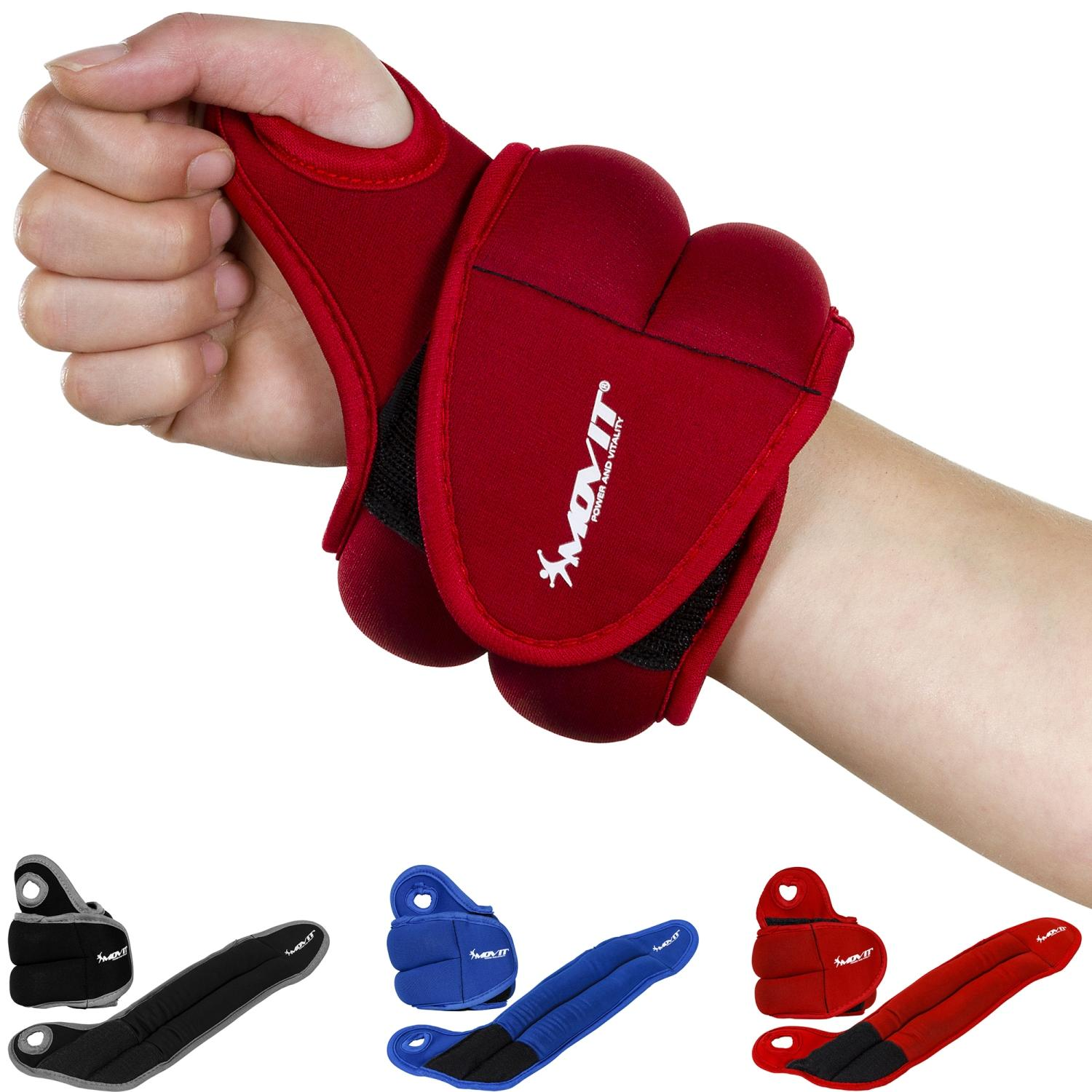 Movit 2x0.5kg Wrist Weights Red atsvari rokām